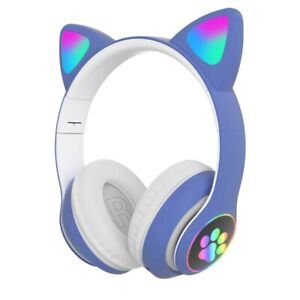 STN28 Wireless Cat Ear Headphone with Mic for Phone,Tablet,PC,Laptop,Computer