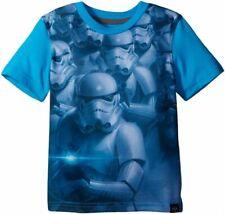 Star Wars Big Boys' Storm Trooper Sublimation T-Shirt, Neon Sky, Large