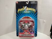 Vintage Power Rangers Zeo Missile Firing Mechanizer Figure PACKAGE HAS WEAR