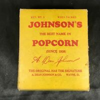 Vintage 1 lb Box of JOHNSON'S POPCORN A. Dean Johnson & Co