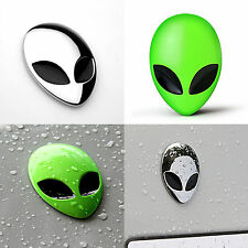 Full Metal Alienware Alien Head Logo Motorcycle Sticker Badge Emblem Car Decals