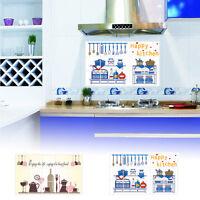 Removable Kitchen Wall Aluminum Foil Oil Proof Sticker Home Decoration 45x75CM