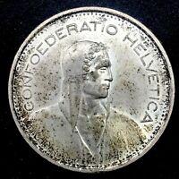 SWITZERLAND 1967-B  5 Francs - Bern- Silver Coin UNC. KM-40.