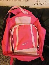 Nike Para Niñas Damas Rosa Cremallera Escuela Mochila Bolso De Gimnasio utilidad - 2 secciones