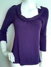 Designer L.K. BENNETT Zed blouse size S --BRAND NEW WITH TAGS-- 3/4sleeves plum