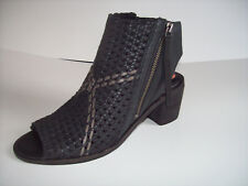"New SAM EDELMAN ""COOPER"" black leather open toe block heel sandals Sz 7.5M"