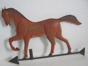 IRON HORSE CUTOUT WEATHER VANE / WEATHERVANE . EMBOSSED