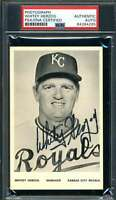 Whitey Herzog PSA DNA Coa Hand Signed Royals Team Issue Photo Autograph