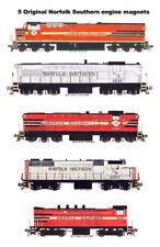 Norfolk Southern Locomotives 5 magnets by Andy Fletcher