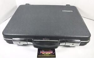 Vintage Starflite Slimline Hardshel Travel Luggage Briefcase Gray w/ Key Nice!