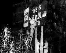 8x10 Print Historic KKK Ku Klux Klan Signage 1969 #KKK99