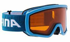 Alpina Kinder Skibrille Ski Brille SCARABEO JR. lightblue DH blau