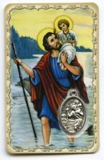 SAINT CHRISTOPHE CARTE PRIERE MEDAILLON