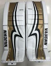 "New Vaughn Pro V Elite Sr goalie leg pads senior 33""+2 Gold Velocity ice hockey"