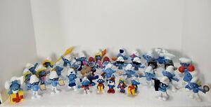 Large Lot of 38 Smurfs figures Vintage Schleich Papa, Gargamel Smurfette Smurf