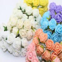 2CM 144pcs Multicolor PE Rose Foam Mini Artificial Silk Flowers Bouquet Solid Co