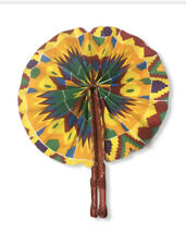 AFRICAN FABRIC HAND FAN GREAT FOR SUMMER