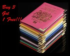 New UK & European Passport Cover Holder Wallet Pouch PU Leather Buy 3 Get 1 Free