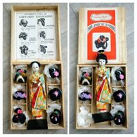 Poupée Bocki ancienne japonaises différents types de Coiffures, années 50 Japan.
