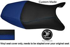 R BLUE BLACK VINYL CUSTOM FOR HONDA CBR 1100 XX SUPER BLACKBIRD 96-07 SEAT COVER