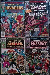 What If #4 8 14-15 4 Comic Lot 1977 Marvel Fantastic Four Avengers Disney+ MCU
