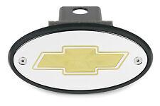 Chevrolet Bowtie Receiver Hitch Cover Chrome Gold Engraving Tahoe Silverado