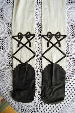 original made in Japan gothic lolita princess ivory black ballet tights S/M
