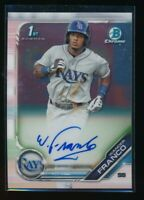 WANDER FRANCO AUTO 1st 2019 Bowman Chrome Autograph Tampa Bay Rays Rookie RC
