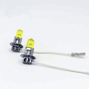 x2 H3 12V 100W Fit Fog Light Xenon HID Super Yellow Plug Play Bulbs Lamps N573