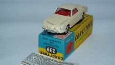 Corgi original series No 239 Volkswagen 1500 Karmann Ghia Cream /Red interior MB