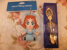 Disneyland Tokyo Wendy Plush Keychain Badge And Once Upon A time Disney Spoon