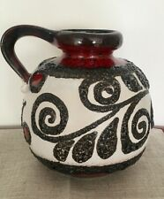 West German Pottery midcentury Vase Scheurich Form 484-21 rot red hand painted
