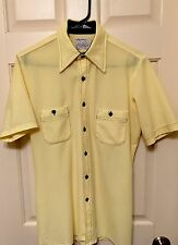 Vintage Arrow 1970s Doubler Shirt Rockabilly Disco Hipster MOD Sz M USA