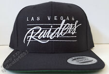 NEW! Las Vegas Raiders Lined Script Cap Hat Snapback Black NWA EAZY E Dr Dre