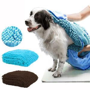 Large Dog Bath Towel Super Absorption Pet Dog Microfiber Quick Drying Towel Warm