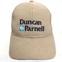 DUNCAN PARNELL Beige Strapback Baseball Hat Cotton Embroidered Trimble