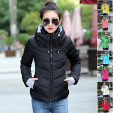 Fashion Winter jackets Warm Women Short Slim Down Cotton Coat Jacket Parka Zip