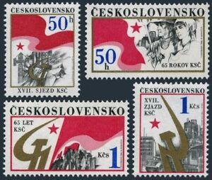 Czechoslovakia 2598-2601,MNH.Mi 2853-2856. Communist Party Congress,65 Ann.1986.