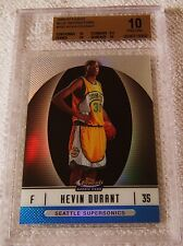 KEVIN DURANT 2006 TOPPS FINEST BLUE REFRACTOR ROOKIE #102 SERIAL #224/299 BGS 10