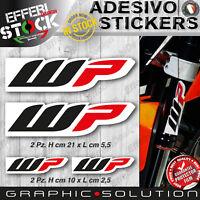 Adesivi / Stickers WP RACING SUSPENSION SHOCK KTM HONDA DUCATI BETA SUZUKI KAWA