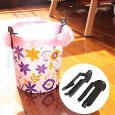 1Pair Trash Bag Fixed Clip Office Dustbin Waste Bin Garbage Can Holder Clamp