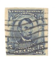 Scott 315 Early US Stamp 5c Lincoln...1906-08....Blue