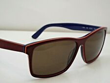 Authentic  LACOSTE L705S 604 Burgundy Blue Brown Solid Sunglasses $289