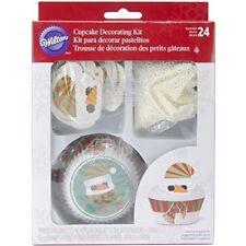 WILTON CHRISTMAS SNOWMAN CUPCAKE DECORATING KIT 24 CUPCAKES XMAS CAKE FUN NEW