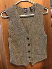 Vintage GAP Sweater Vest  Buttons Size Small