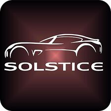 Vinyl sticker PONTIAC SOLSTICE car logo Window Bumper 16x6cm grand decal gto