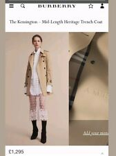 Burberry Kensington Heritage trench manteau taille UK12 Honey Mid Lenght