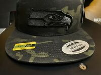 Black on Black Camo Seahawks Hat - 12th man - national football - seattle love