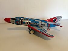 AEREO GIOCATTOLO LATTA F-4 U.S. AIR FORCE - VINTAGE AIRPLANE TIN TOY S.FERRARI