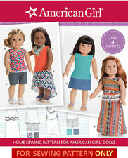 SEWING PATTERN! AMERICAN GIRL DESIGNS FOR DOLLS! CLOTHES FITS JULIE~SAIGE~KIT